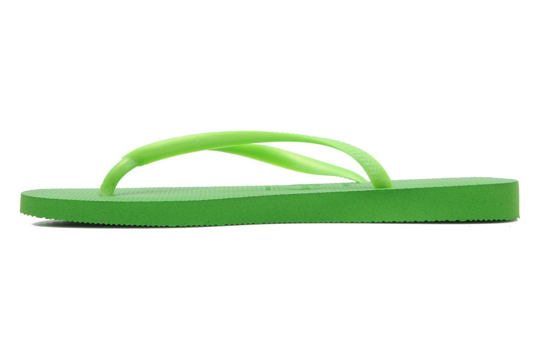 Slim Metallic Femme Neon Green