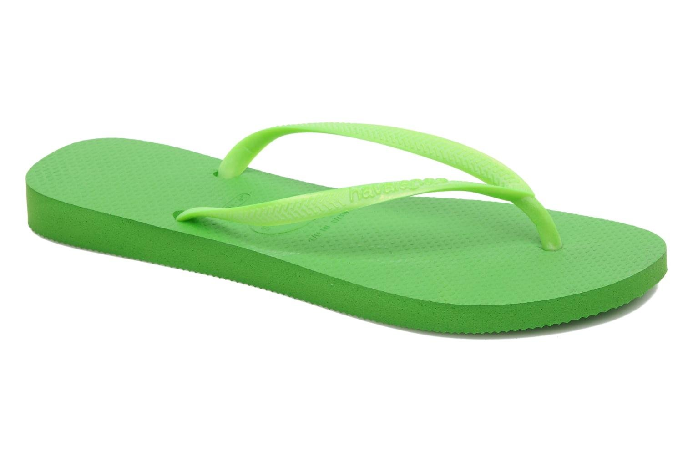 Slim Metallic F Neon Green