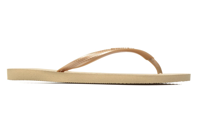 Slippers Havaianas Slim Métallic Femme Beige achterkant