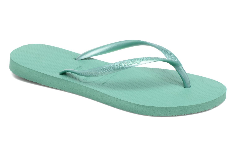 Slippers Havaianas Slim Métallic Femme Groen detail
