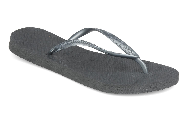 Slippers Havaianas Slim Métallic Femme Grijs detail