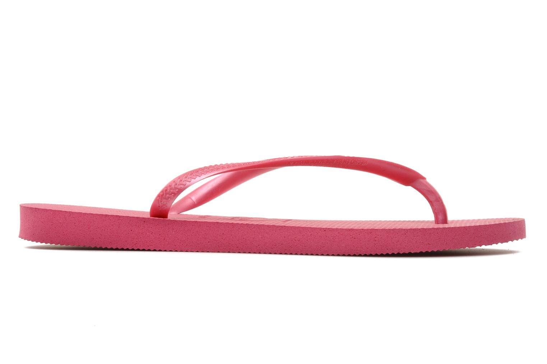Zehensandalen Havaianas Slim Métallic Femme rosa ansicht von hinten