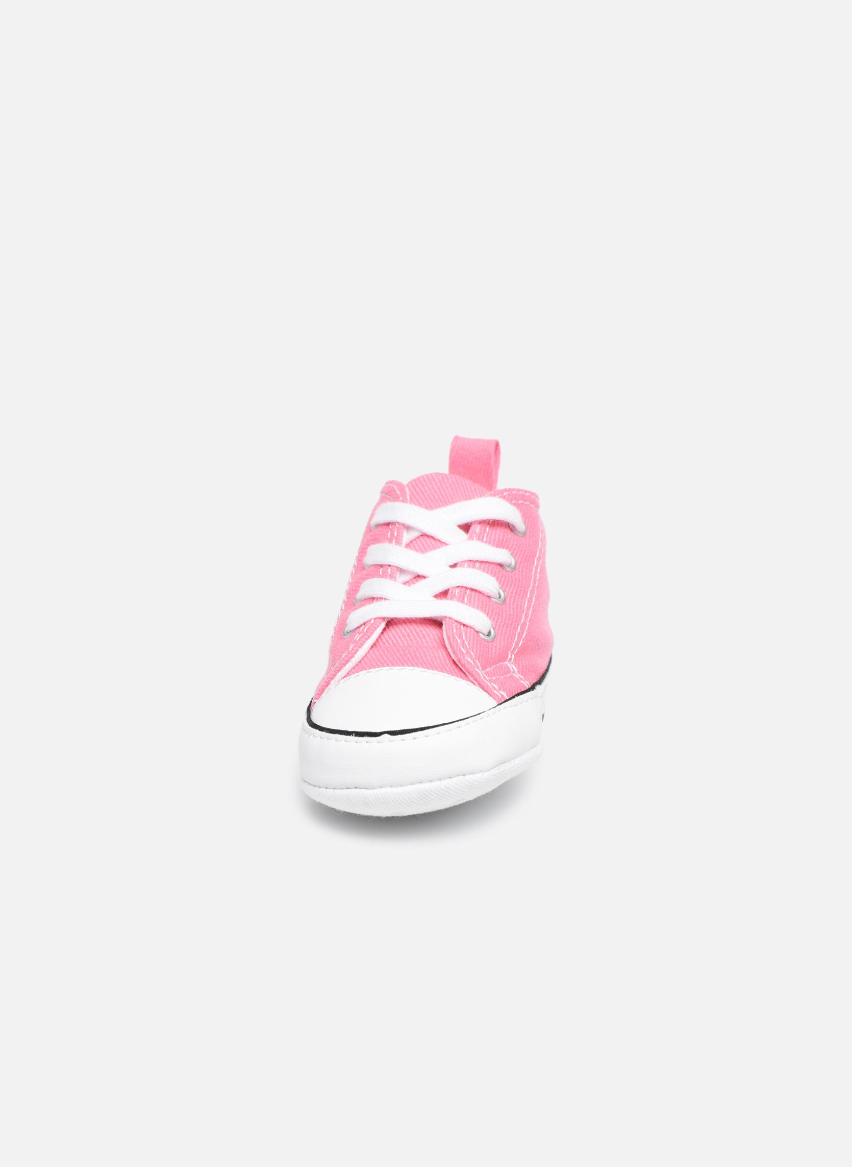 Sneakers Converse First Star Cvs Rosa modello indossato