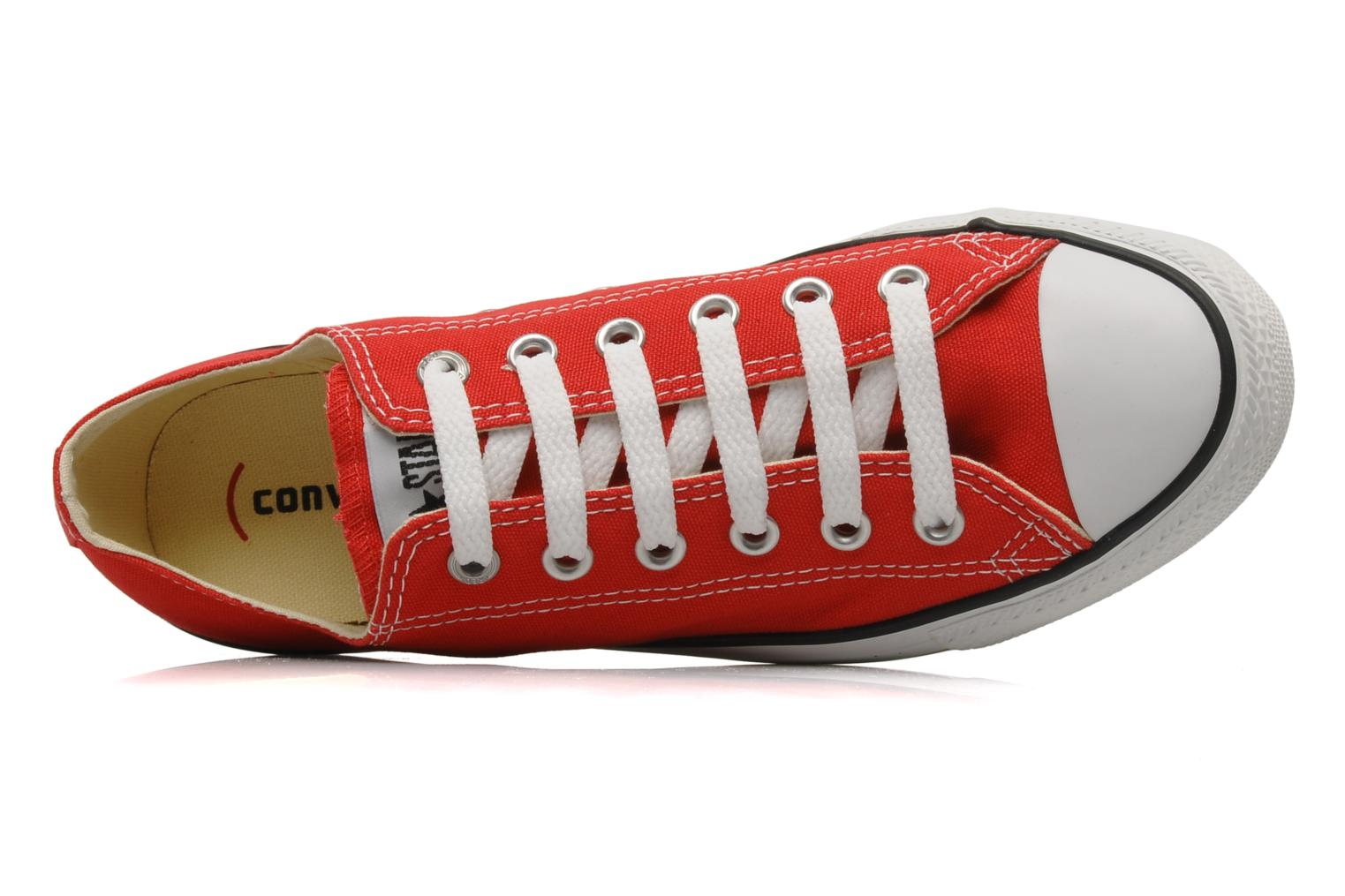 Baskets Converse Chuck Taylor All Star Ox M Rouge vue gauche