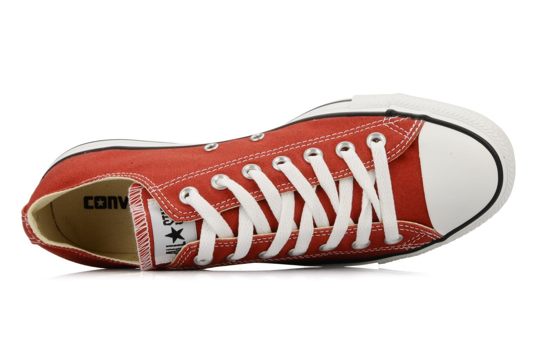 Sneaker Converse Chuck Taylor All Star Ox M rot ansicht von links
