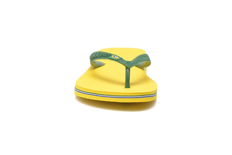 Zehensandalen Havaianas Brazil H gelb schuhe getragen