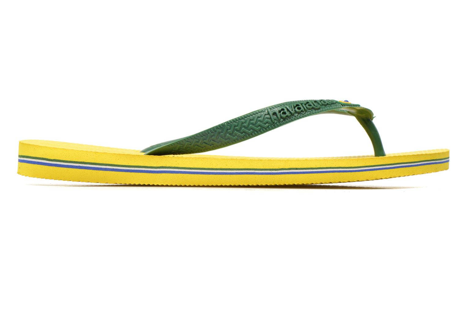 Flip flops Havaianas Brazil H Yellow back view