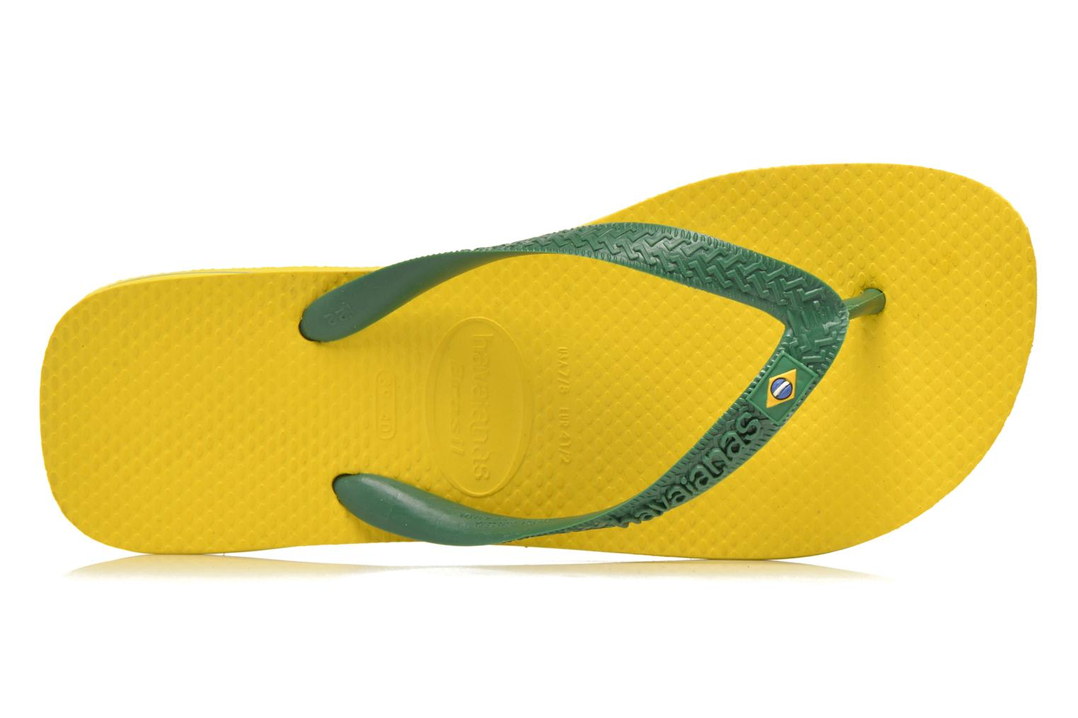 Flip flops Havaianas Brazil H Yellow view from the left