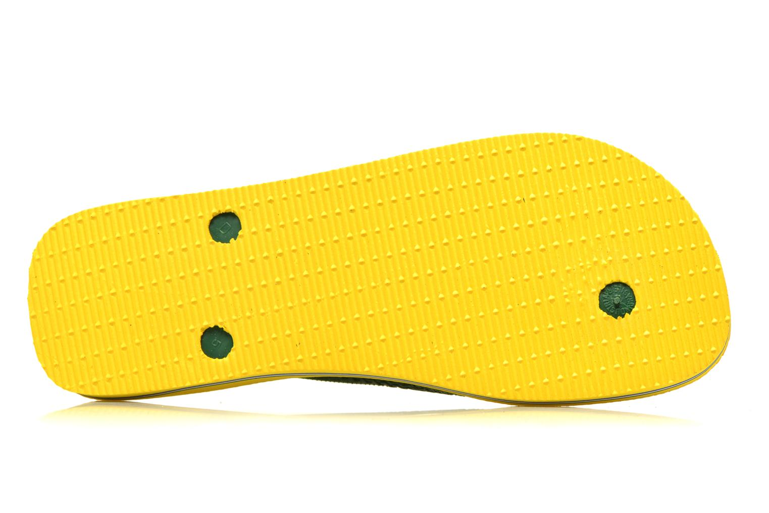 Flip flops Havaianas Brazil H Yellow view from above