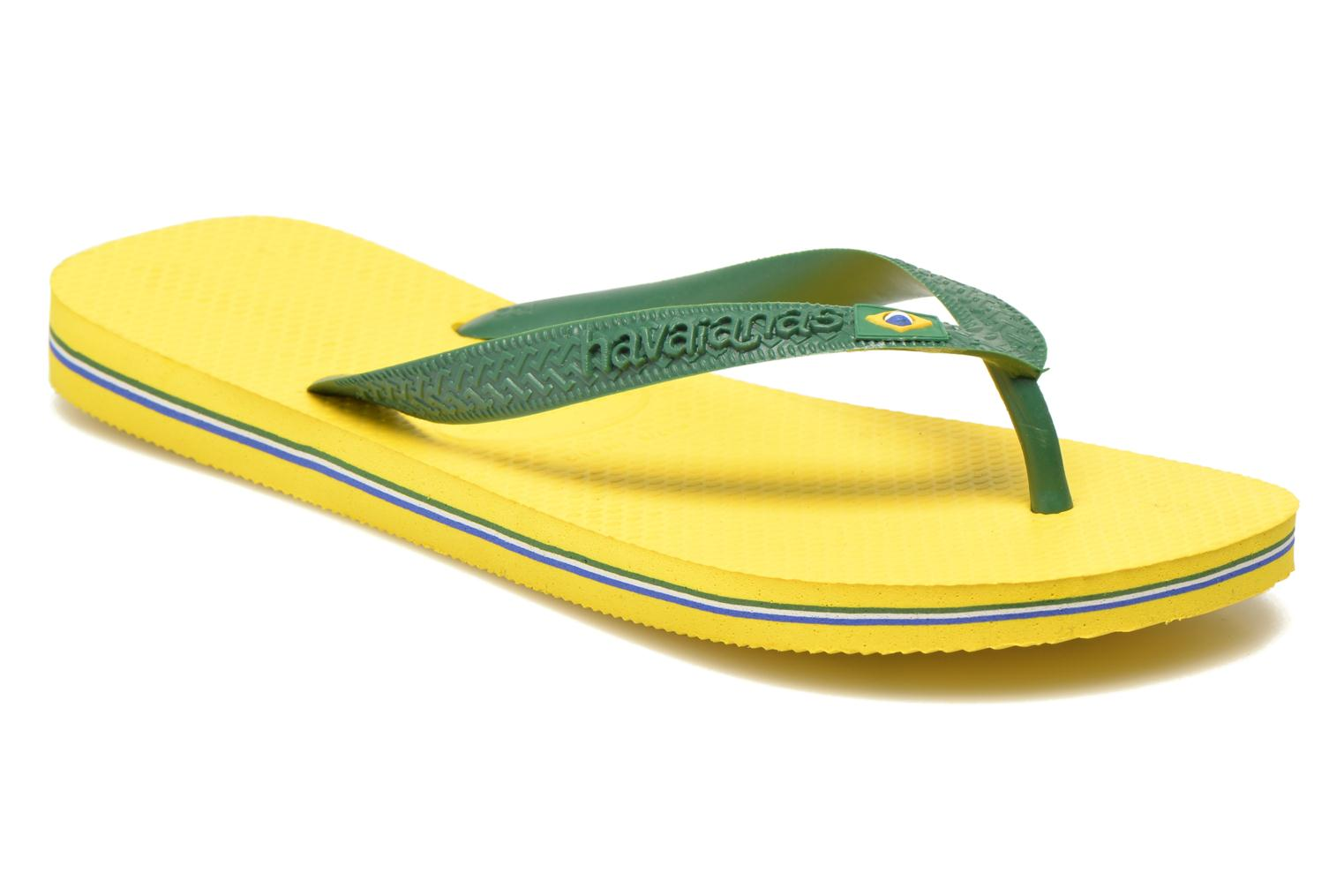 Flip flops Havaianas Brazil H Yellow detailed view/ Pair view