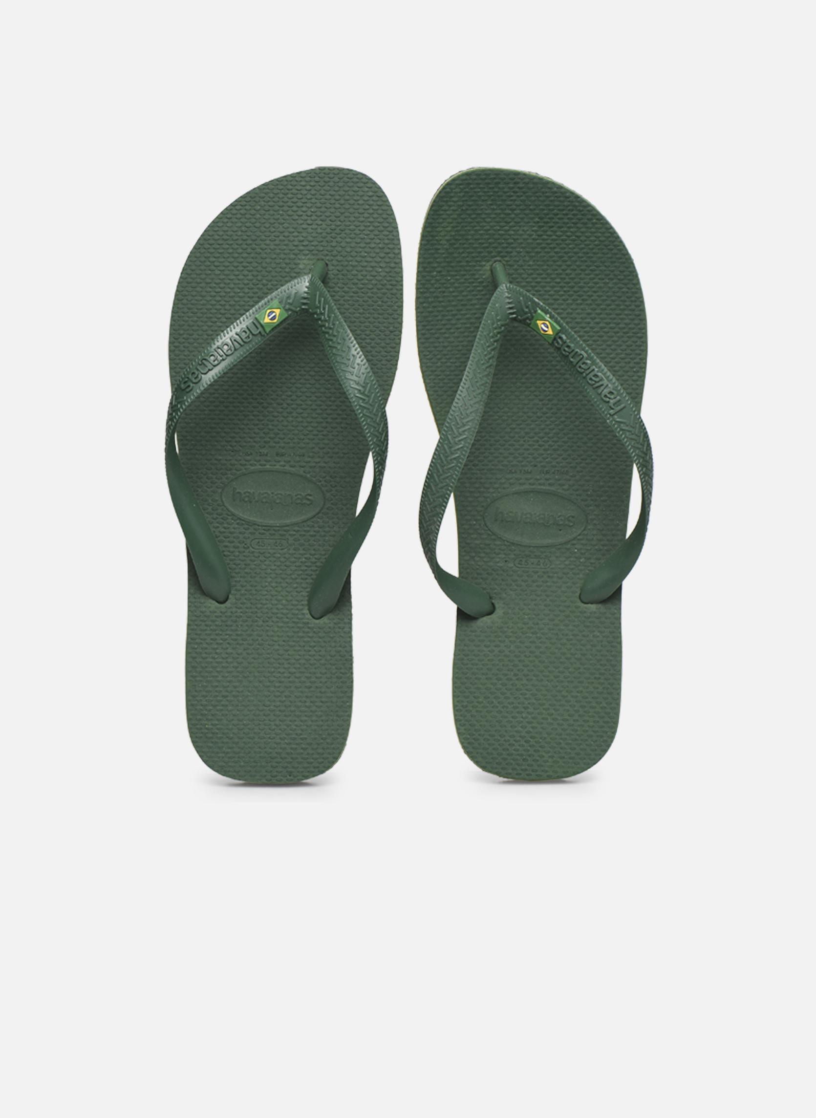 Tongs Havaianas Brazil H Vert vue portées chaussures