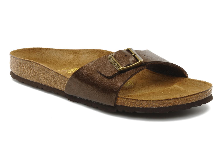 Grandes descuentos últimos zapatos Birkenstock Madrid Flor W (Marrón) - Zuecos Descuento
