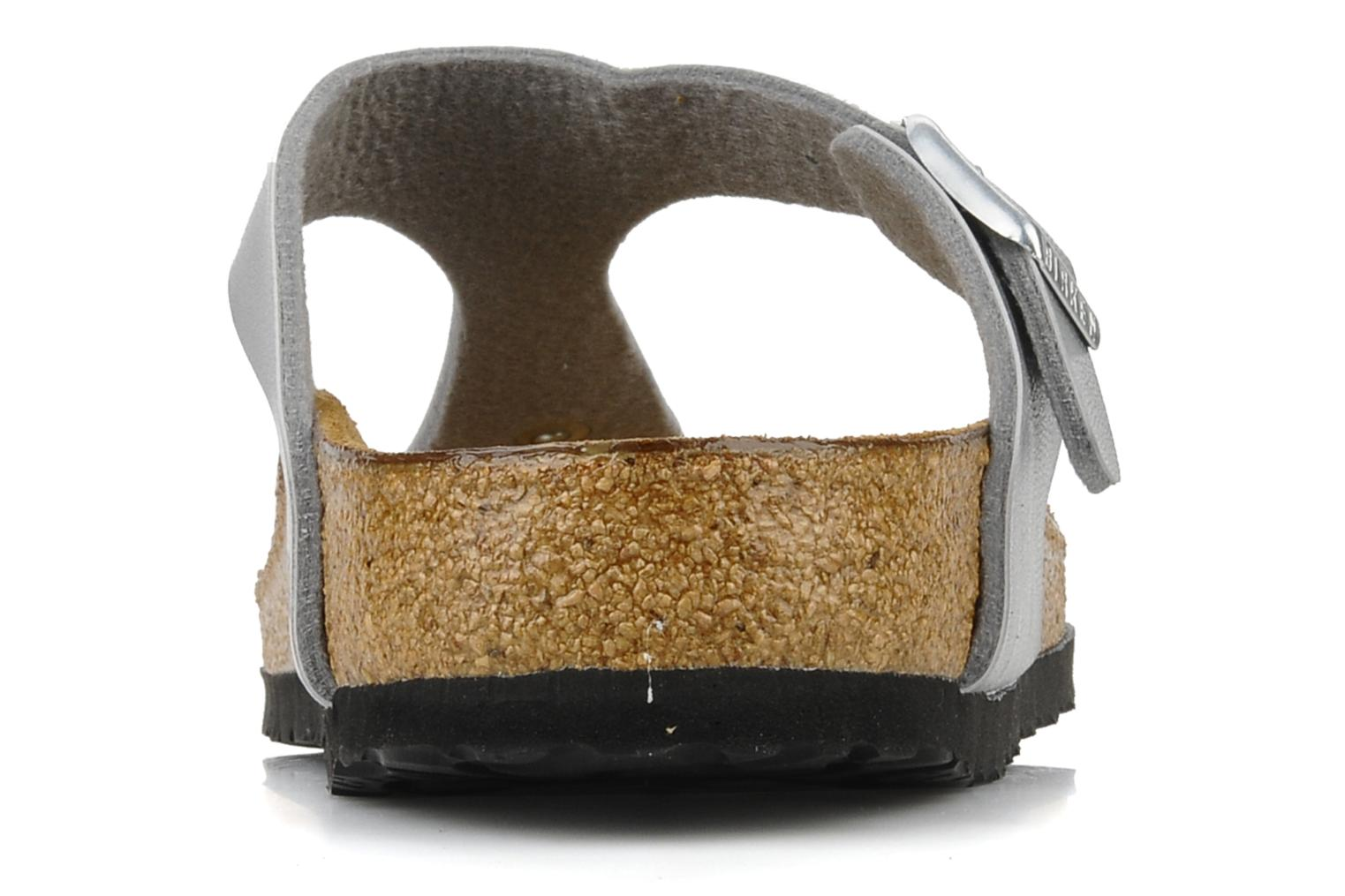 Sandals Birkenstock Gizeh Flor W Silver view from the right