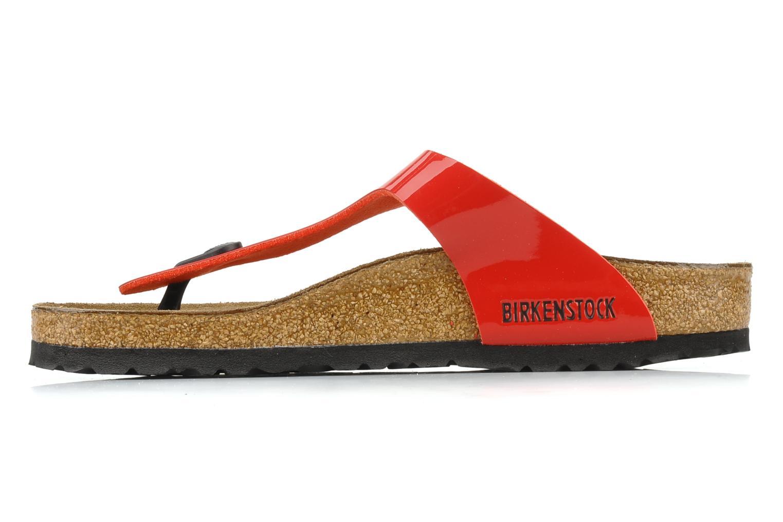 Sandalen Birkenstock Gizeh Flor W Rood voorkant