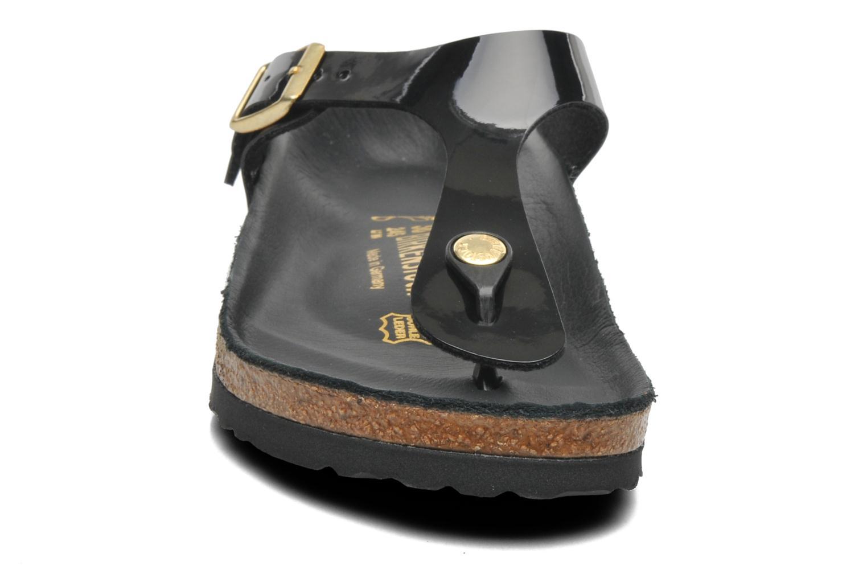 Sandales et nu-pieds Birkenstock Gizeh Flor W Noir vue portées chaussures