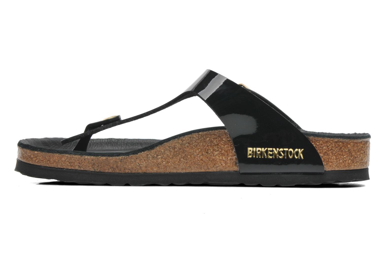 Sandales et nu-pieds Birkenstock Gizeh Flor W Noir vue face