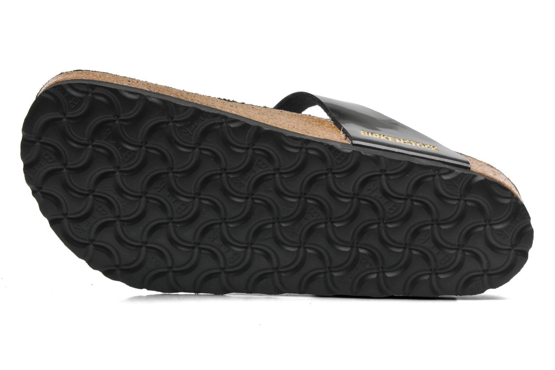 Sandales et nu-pieds Birkenstock Gizeh Flor W Noir vue haut