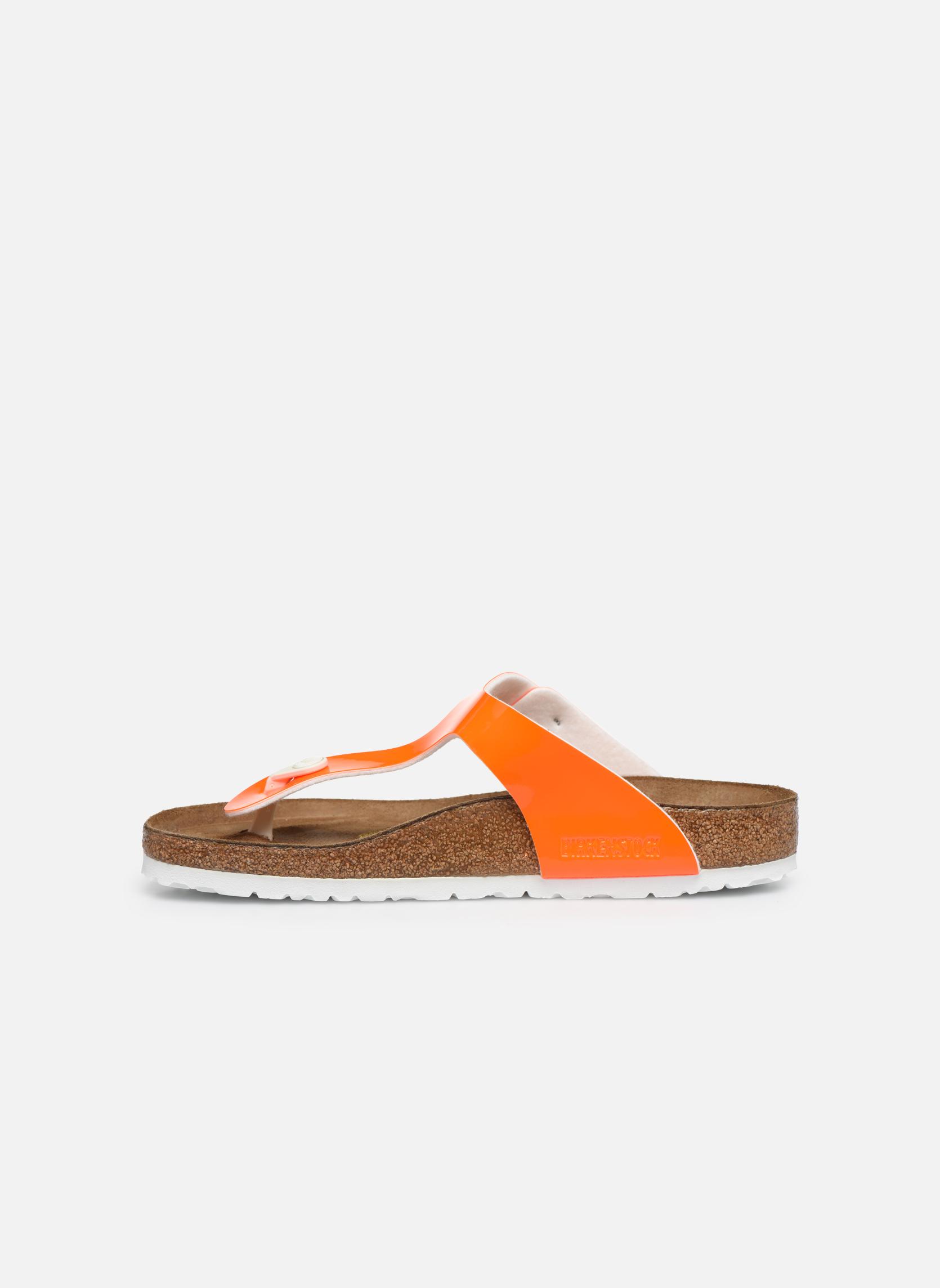 Sandali e scarpe aperte Birkenstock Gizeh Flor W Arancione immagine frontale