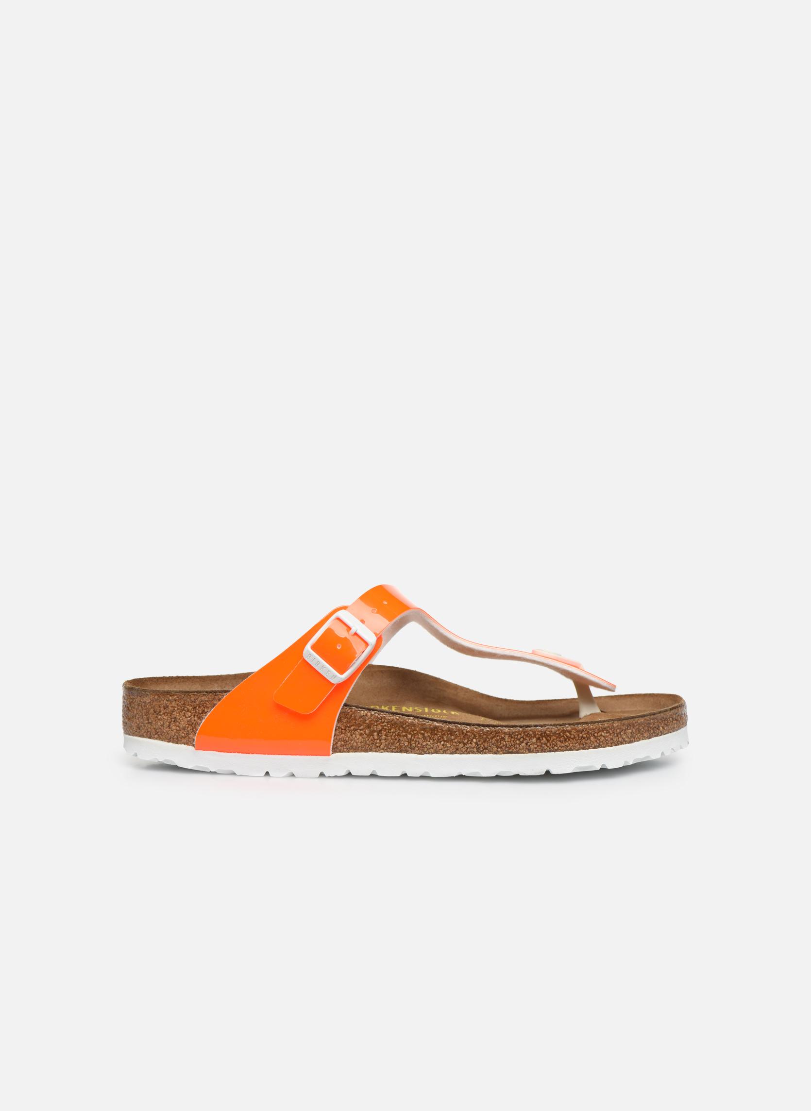 Sandali e scarpe aperte Birkenstock Gizeh Flor W Arancione immagine posteriore