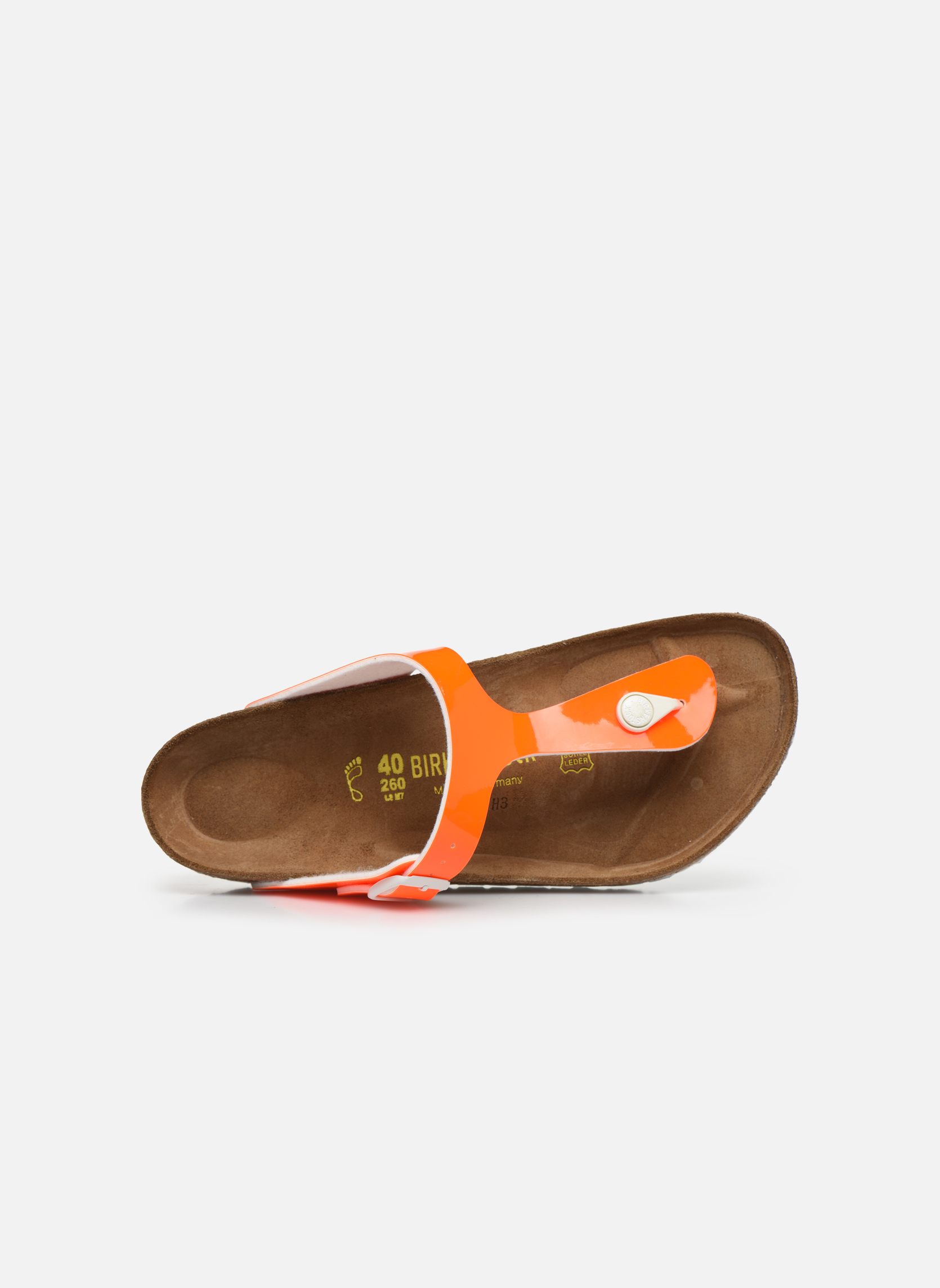 Slippers Birkenstock Gizeh Flor W Oranje links