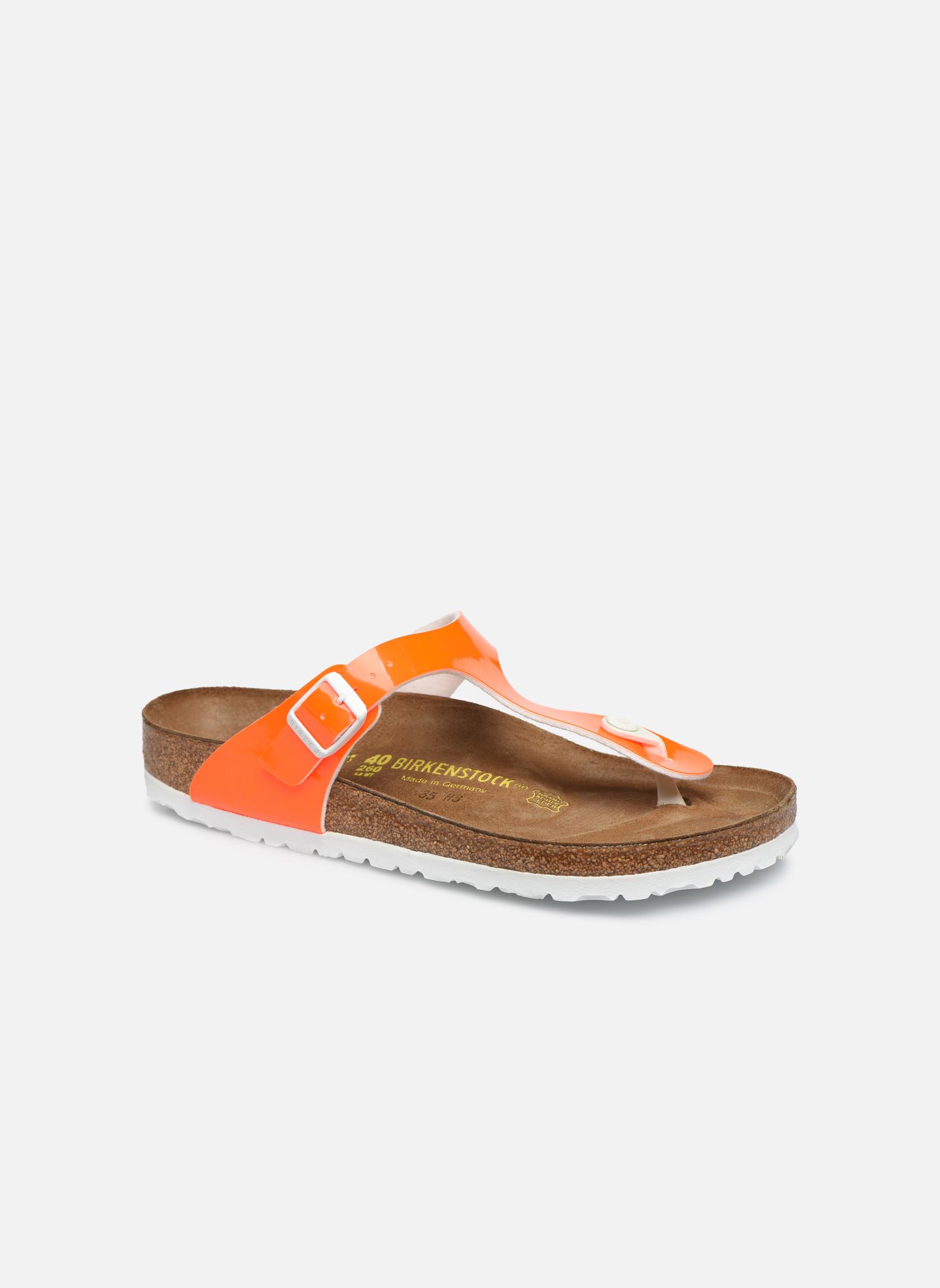 Sandali e scarpe aperte Birkenstock Gizeh Flor W Arancione vedi dettaglio/paio