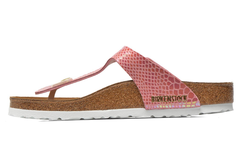 Sandals Birkenstock Gizeh Flor W Pink front view