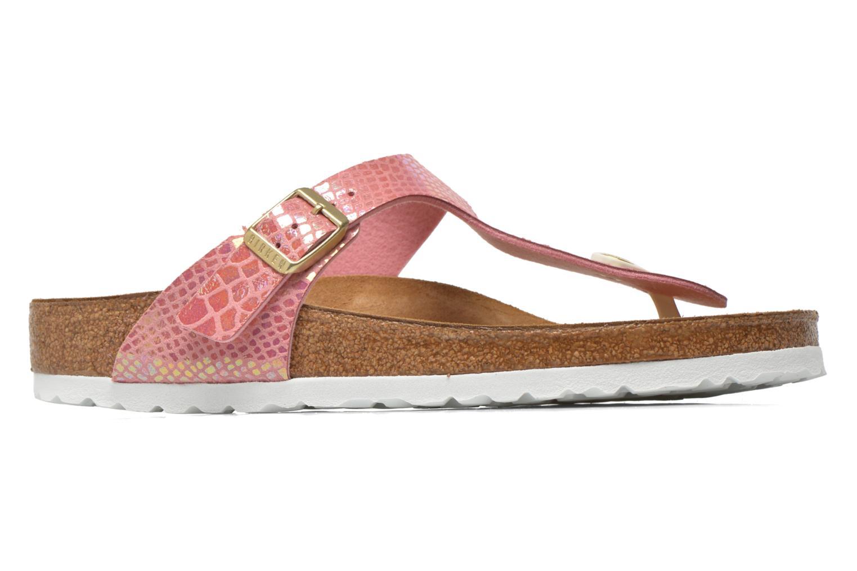 Sandals Birkenstock Gizeh Flor W Pink back view