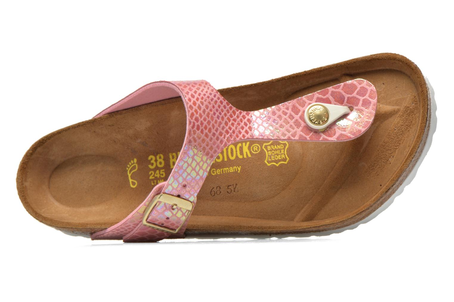 Sandals Birkenstock Gizeh Flor W Pink view from the left