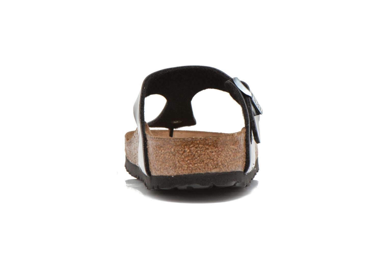 Sandales et nu-pieds Birkenstock Gizeh Flor W Noir vue droite