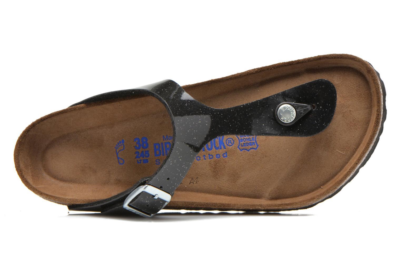 Sandales et nu-pieds Birkenstock Gizeh Flor W Noir vue gauche