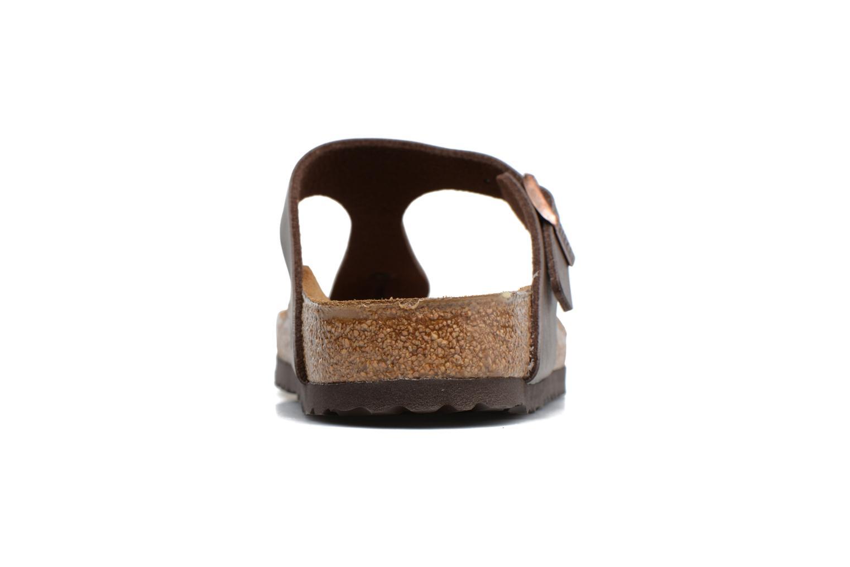 Sandales et nu-pieds Birkenstock Gizeh Flor W Marron vue droite