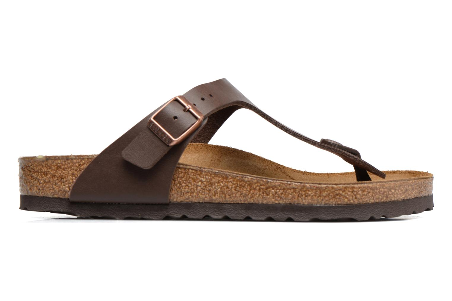 Sandals Birkenstock Gizeh Flor W Brown back view