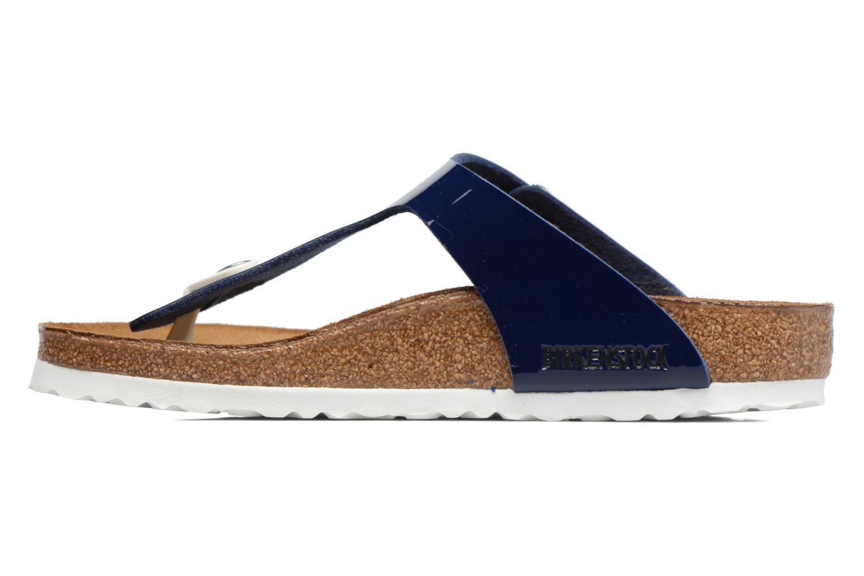 Sandals Birkenstock Gizeh Flor W Blue front view