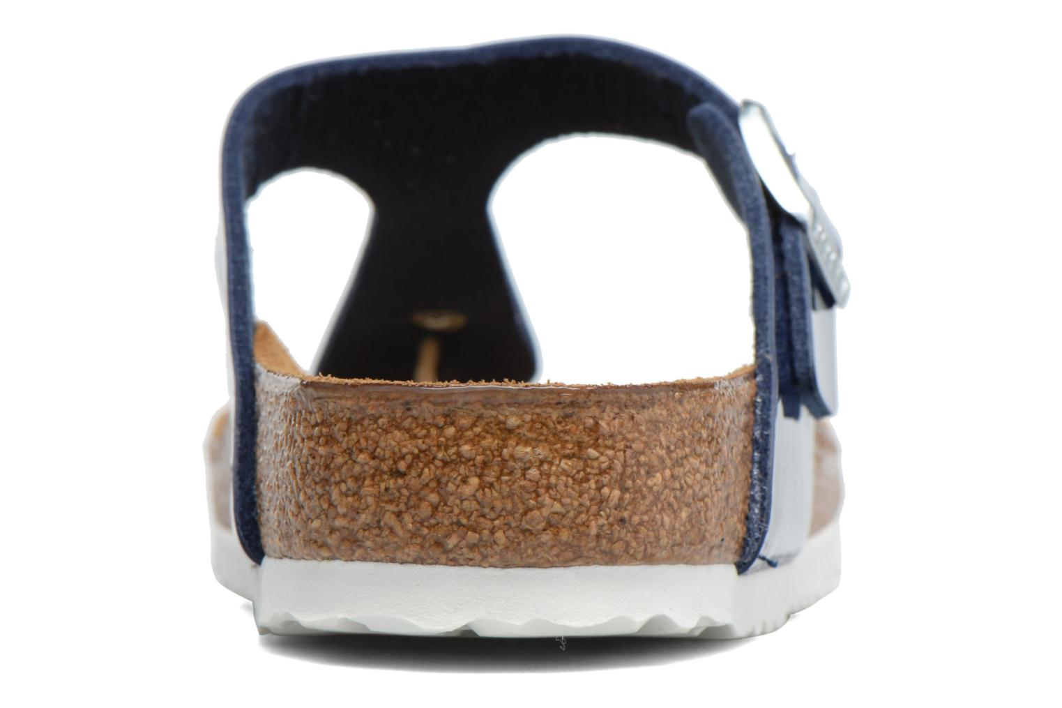 Sandals Birkenstock Gizeh Flor W Blue view from the right