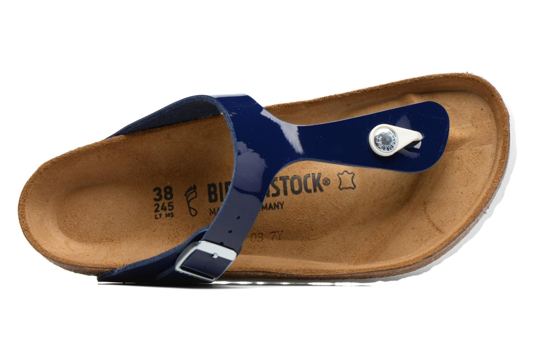 Sandalias Birkenstock Gizeh Flor W Azul vista lateral izquierda