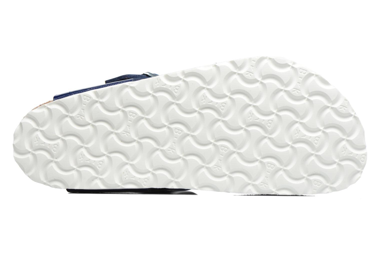 Sandalen Birkenstock Gizeh Flor W blau ansicht von oben