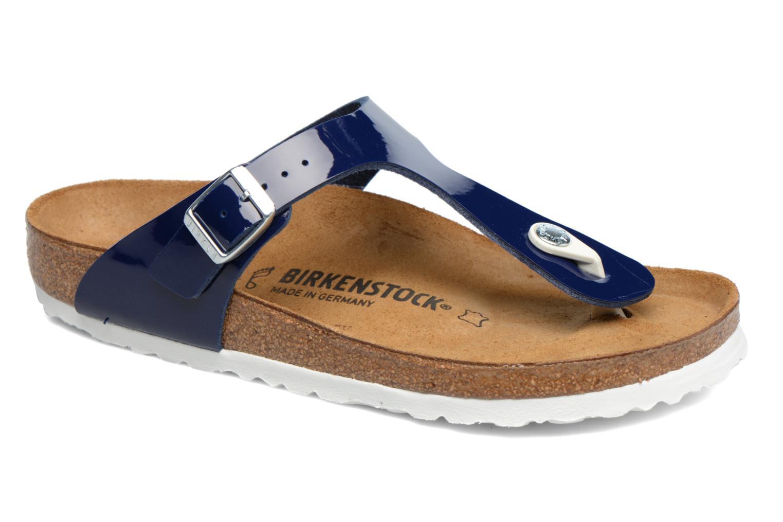 Sandali e scarpe aperte Birkenstock Gizeh Flor W Azzurro vedi dettaglio/paio