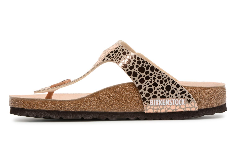 Sandales et nu-pieds Birkenstock Gizeh Flor W Or et bronze vue face