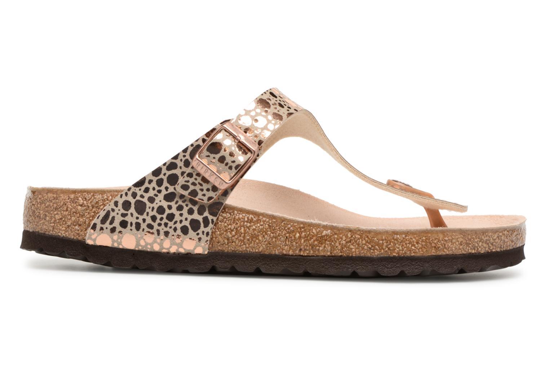Sandales et nu-pieds Birkenstock Gizeh Flor W Or et bronze vue derrière