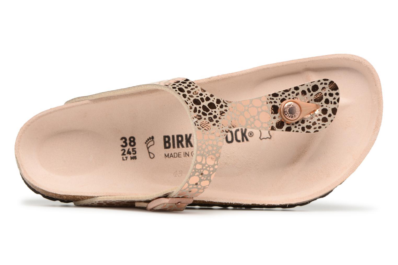 Sandales et nu-pieds Birkenstock Gizeh Flor W Or et bronze vue gauche