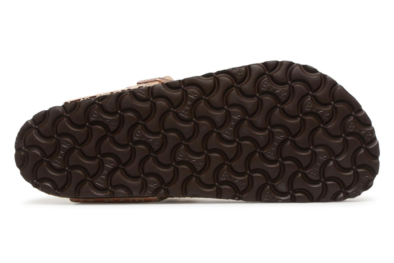 Sandales et nu-pieds Birkenstock Gizeh Flor W Or et bronze vue haut