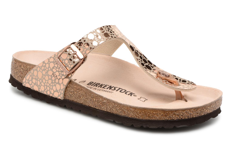 Sandales et nu-pieds Birkenstock Gizeh Flor W Or et bronze vue détail/paire
