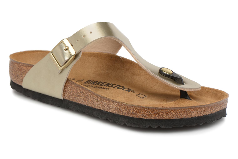 Grandes descuentos últimos zapatos Birkenstock Gizeh Flor W (Oro y bronce) - Sandalias Descuento