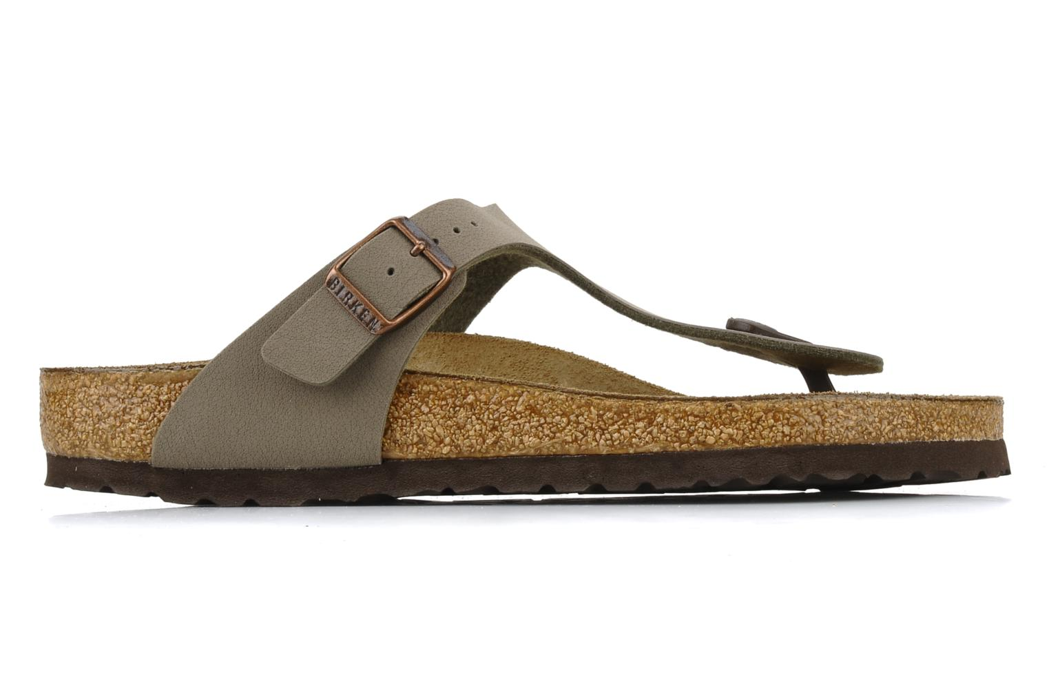 Sandals Birkenstock Gizeh Flor W Grey back view