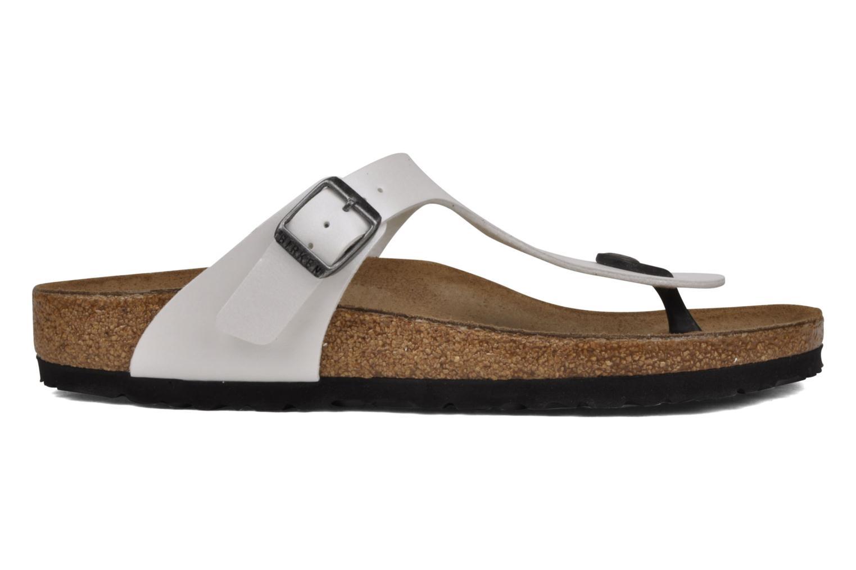 Sandals Birkenstock Gizeh Flor W White back view