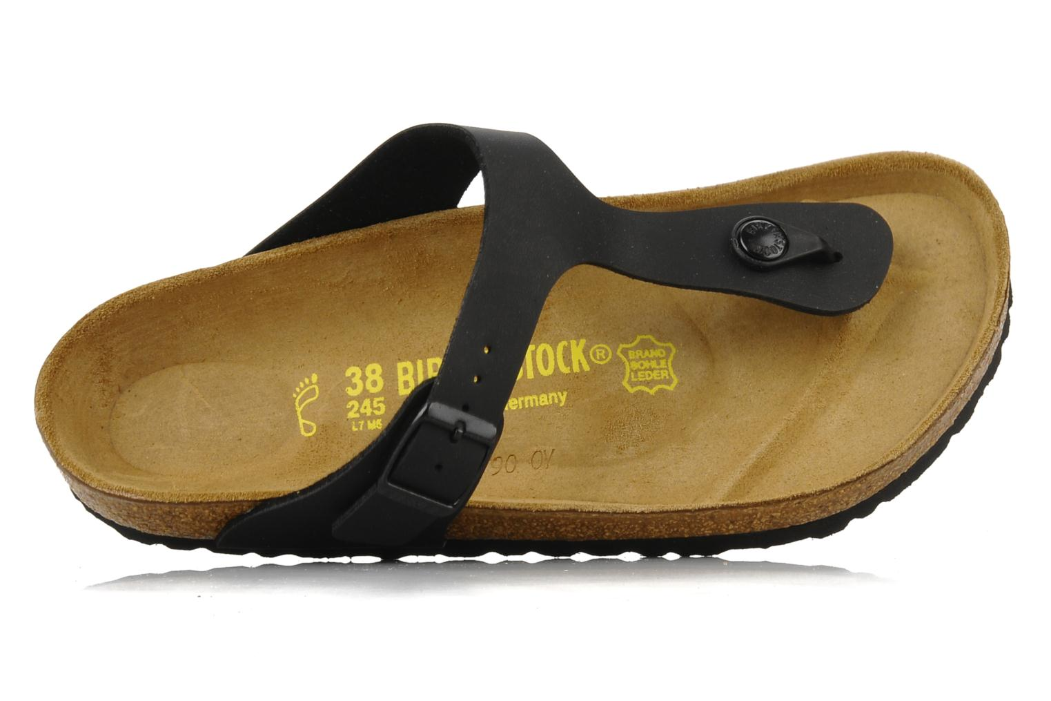 Sandals Birkenstock Gizeh Flor W Black view from the left