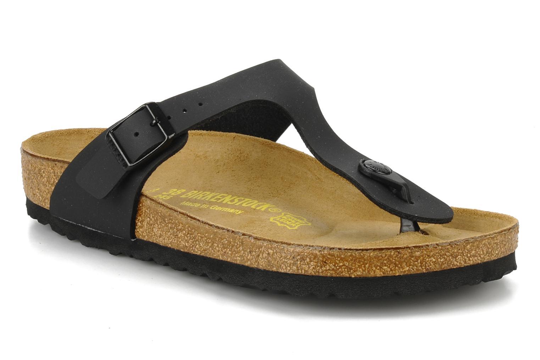 Zapatos promocionales Birkenstock Gizeh Flor W (Negro) - Sandalias   Cómodo y bien parecido