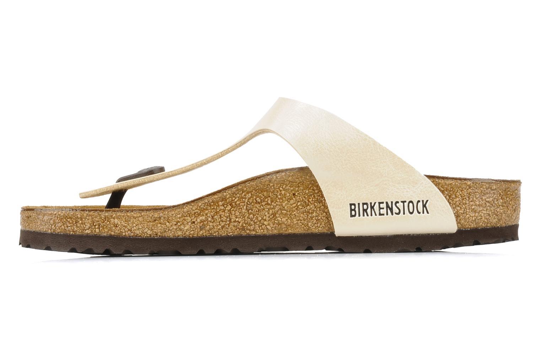 Sandalen Birkenstock Gizeh Flor W Beige voorkant