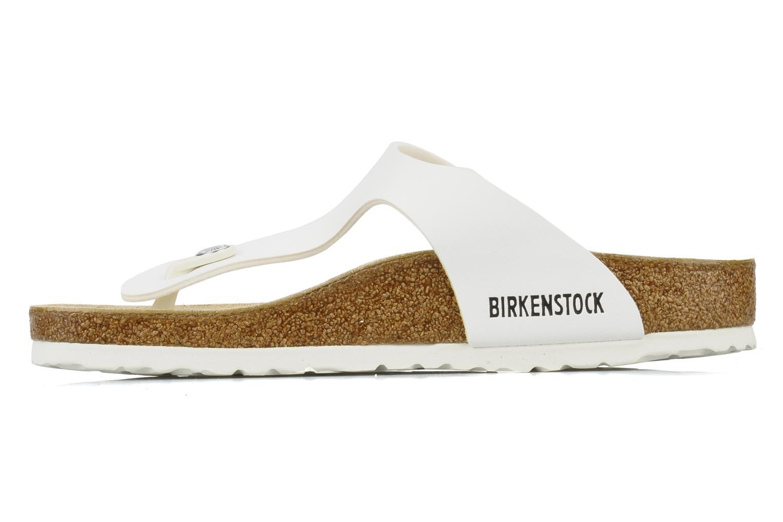 Sandalen Birkenstock Gizeh Flor W Wit voorkant