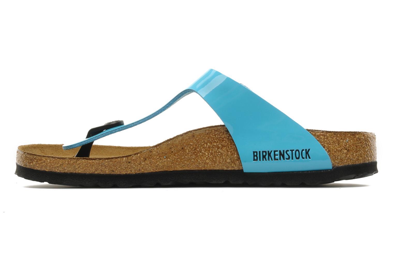 Sandalen Birkenstock Gizeh Flor W Blauw voorkant